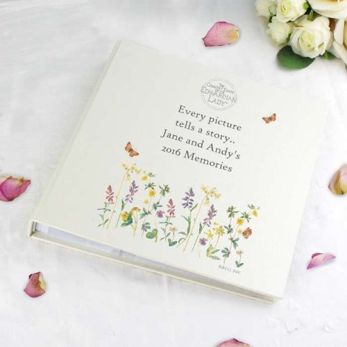 Personalised Country Diary Wild Flowers Album with Sleeves
